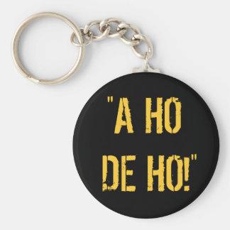 """""""A HO DE HO!"""" BASIC ROUND BUTTON KEYCHAIN"""