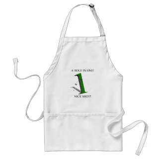 A Hole In One Golf Ball Adult Apron