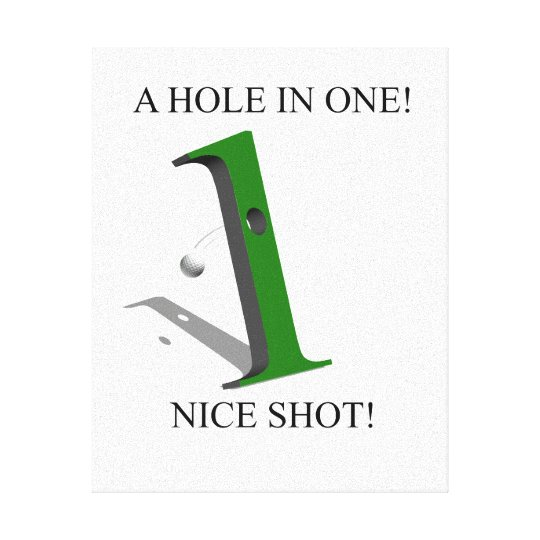 A Hole In One Golf Ball Canvas Print