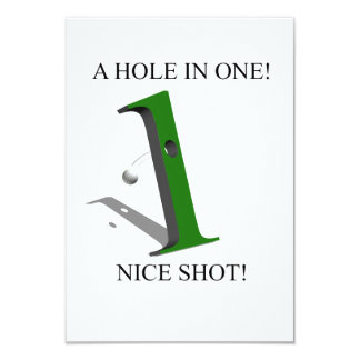 A Hole In One Golf Ball Invitation