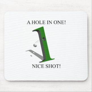 A Hole In One Golf Ball Mouse Pad