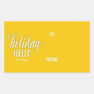 A Holiday Hello Gift Tag