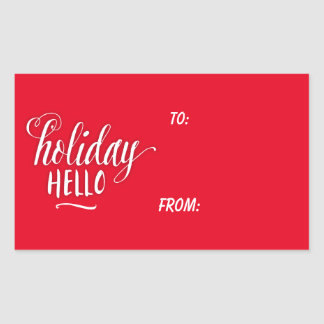 A Holiday Hello Holiday Gift Tag Sticker