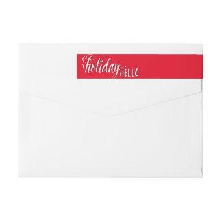 A Holiday Hello Return Address Skinny Label