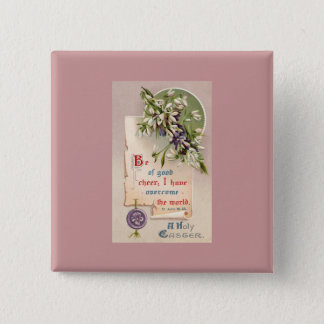 A Holy Easter Vintage Christian Button