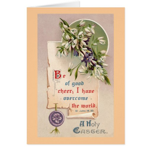 A Holy Easter Vintage Christian Cards
