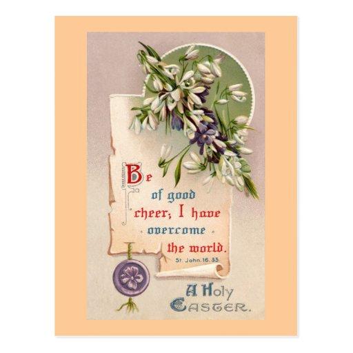 A Holy Easter Vintage Christian Postcards