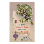 A Holy Easter Vintage Christian Poster