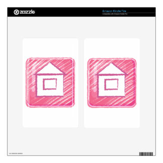 A home button icon drawing kindle fire skin