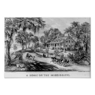A Home On The Mississippi Print
