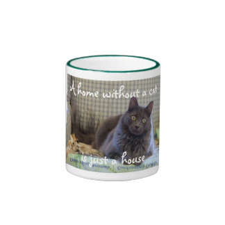 A Home Without A Cat is Just a House Ringer Mug