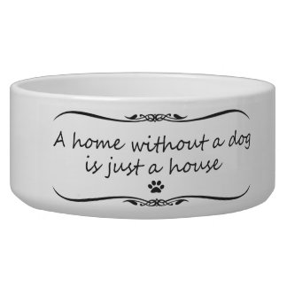 A Home Without a Dog Food Bowl