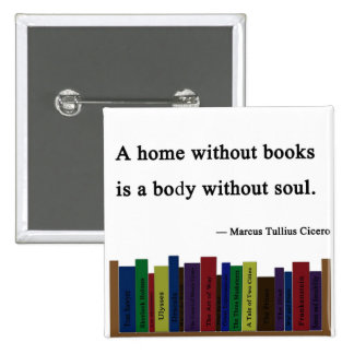 A Home Without Books Pin