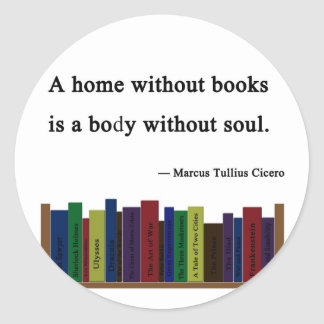 A Home Without Books Sticker