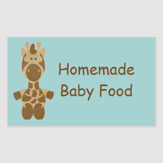 A Homemade Baby Fruit or Vegetable Food Jar Label Rectangular Sticker