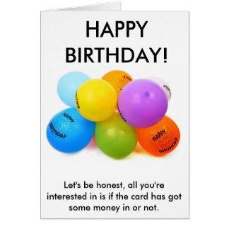 A honest birthday card