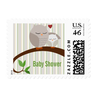 A Hoot Of A Baby Shower Brown Owls Stamp