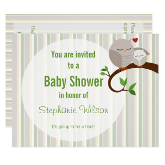 A Hoot Of A Baby Shower Owl Invitation