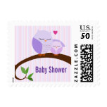 A Hoot Of A Baby Shower Purple Owls Postage