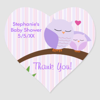 A Hoot Of A Baby Shower Purple Stickers