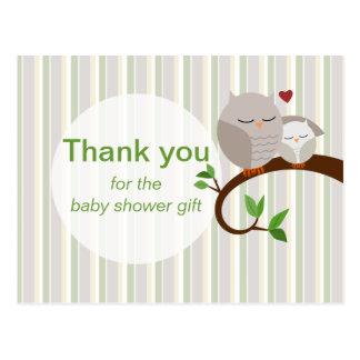 A Hoot Of An Owl Baby Shower Thank You Postcard