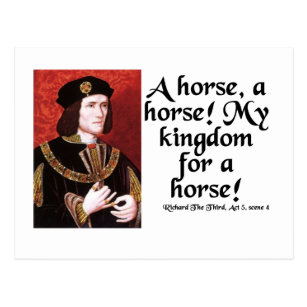 a horse a horse my kingdom for a horse