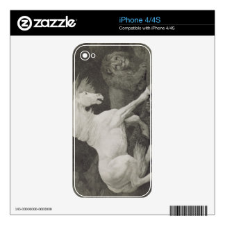 A Horse Affrighted by a Lion, engraved by the arti Decal For The iPhone 4S