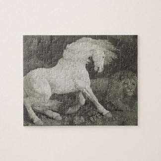 A Horse Affrighted by a Lion, engraved by the arti Jigsaw Puzzle