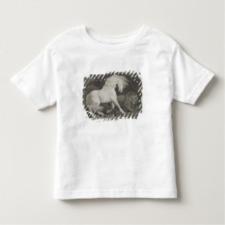 A Horse Affrighted by a Lion, engraved by the arti Toddler T-shirt