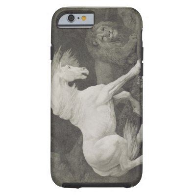 A Horse Affrighted by a Lion, engraved by the arti Tough iPhone 6 Case