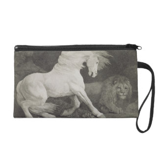 A Horse Affrighted by a Lion, engraved by the arti Wristlet Purse
