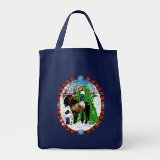 A Horse and Kid Christmas Bags