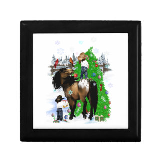 A Horse and Kid Christmas Gift Boxes
