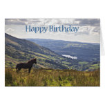 A horse and landscape birthday card