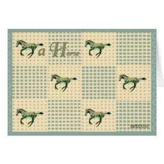 A Horse Card
