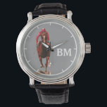 "a horse &amp; custom initials watch<br><div class=""desc"">Personalized horse-themed item</div>"