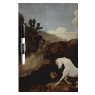 A Horse Frightened by a Lion by George Stubbs Dry-Erase Whiteboards