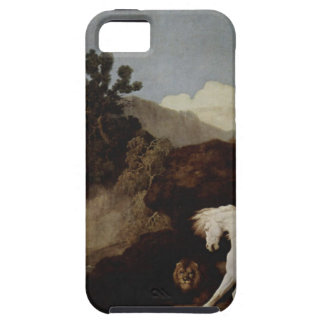 A Horse Frightened by a Lion by George Stubbs iPhone SE/5/5s Case