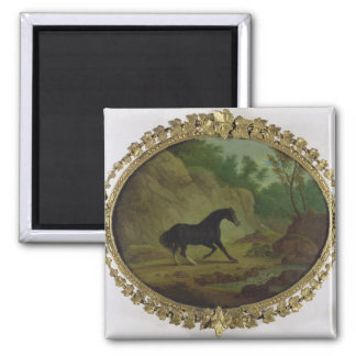 A Horse Frightened by a Snake, 1792 (oil on canvas 2 Inch Square Magnet