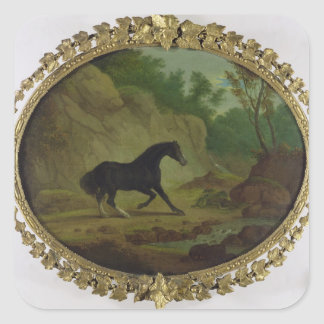 A Horse Frightened by a Snake, 1792 (oil on canvas Square Sticker