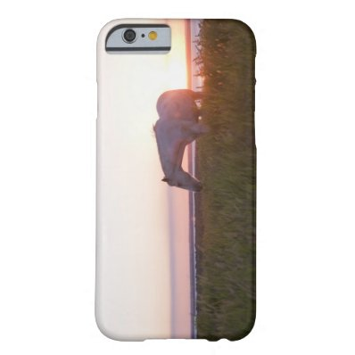 A horse in a field barely there iPhone 6 case