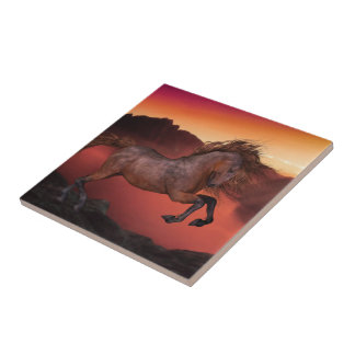 A Horse In The Sunset Tile