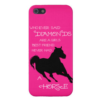 A Horse is a Girl's Best Friend Hot PINK IPHONE Case For iPhone SE/5/5s