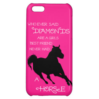 A Horse is a Girl's Best Friend Hot PINK IPHONE Cover For iPhone 5C