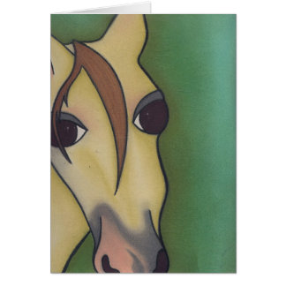 A Horse is a Horse Ofcourse  by Robyn Feeley Greeting Card