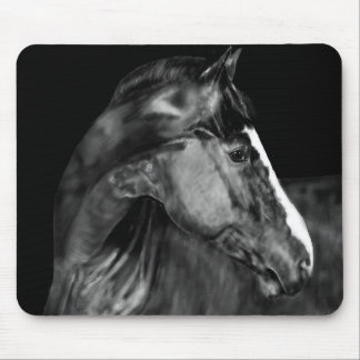 A Horse Looking Back Mouse Pad
