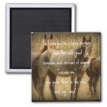 A Horse Person 2 Inch Square Magnet