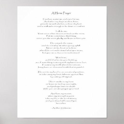 A Horse Prayer - Print