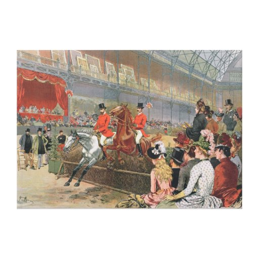 A Horse Race, 1886 Canvas Prints