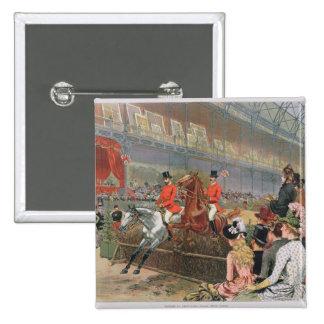 A Horse Race, 1886 Pinback Button